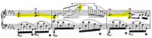 ein neues Klavierstück: Gerüst herausfinden, Polyrhythmik